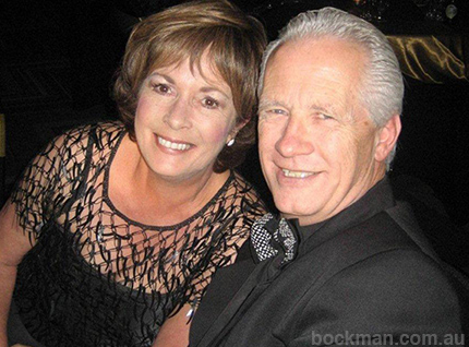 Colin relaxing with his wife Gaye after Facilitating the Conference and being the MC at the Gala Dinner