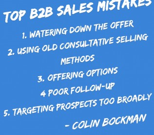 The 5 Problems For Most B2B Salespeople – Top Selling Mistakes B2B