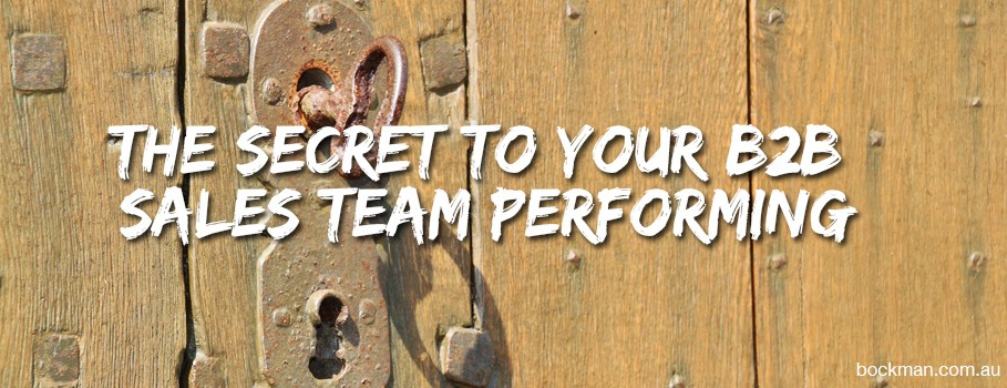 The secret to your B2B Sales Team performing!